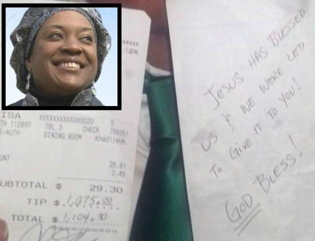 waitress 1000 dollar tip