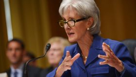 US Health and Human Services Secretary Kathleen Sebelius testifies before the Senate Finance Committee