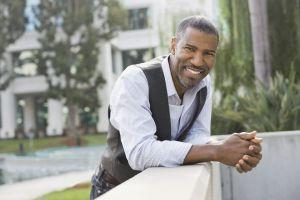 A portrait of confident man outdoors