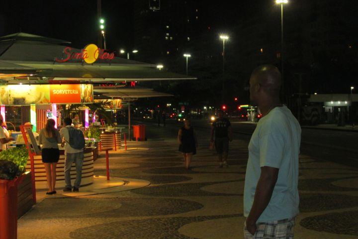 Casey Frost on Copacabana Beach
