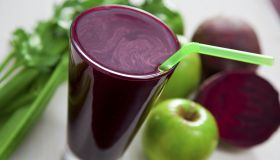 A glass of beet juice