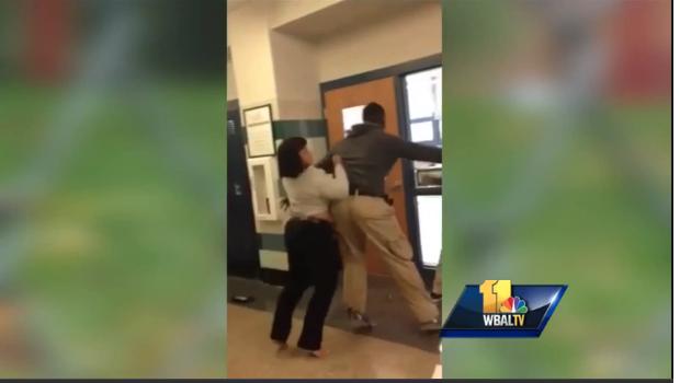 Baltimore Teacher Student Fight_WBALTV Screenshot