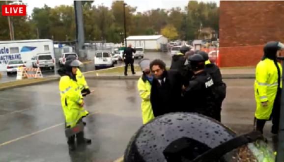 breaking cornel west arrested in ferguson