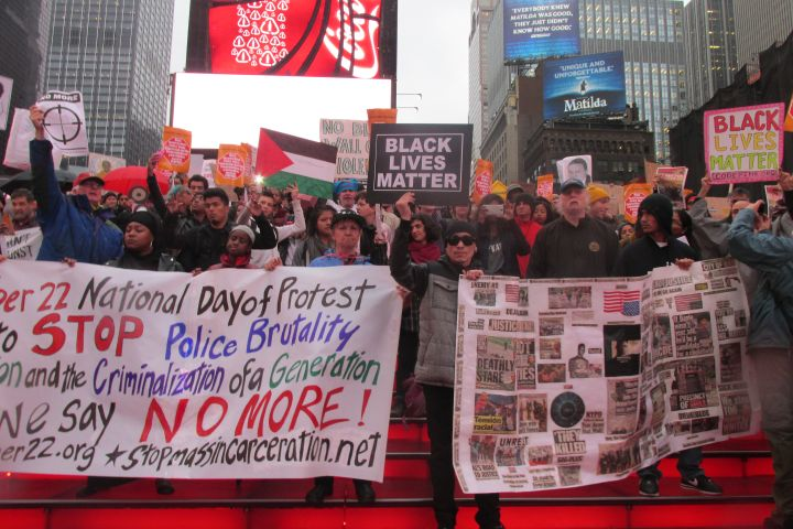 October 22 Coalition Protest in Times Square