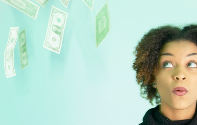 Black woman and money
