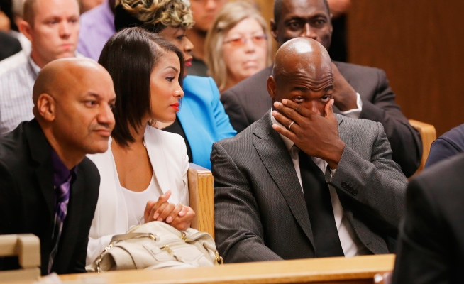 Adrian Peterson in Court