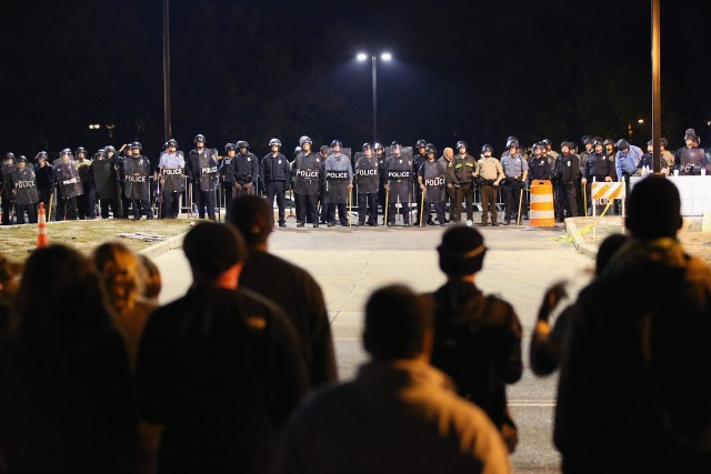 National Day of Protest, October 22, 2014 in Ferguson, Missouri.