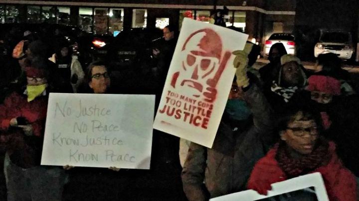 Protestors in Ferguson