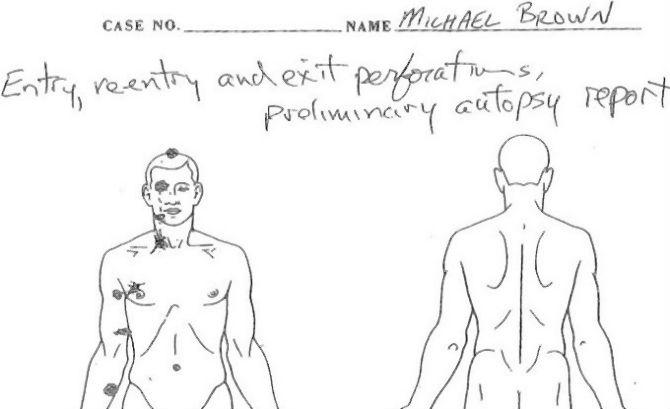 mike brown federal autopsy report released key witness fbi interview left out of grand jury documents
