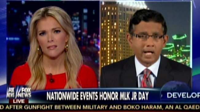 Megyn Kelly and Dinesh D'Souza