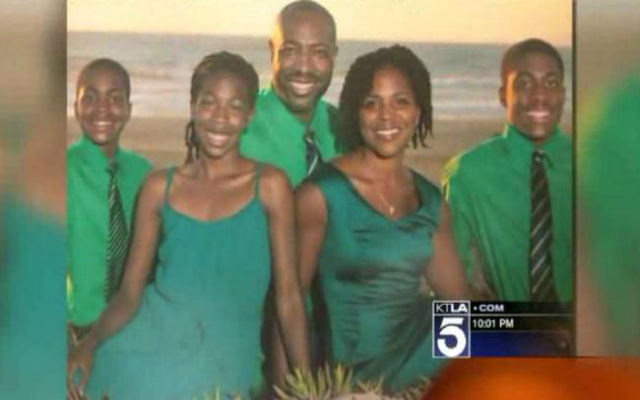 Members of a Black family in Manhattan Beach, Calif., are calling for a hate crime investigation after their home was recently fire bombed. (KTLA 5 Screenshot)