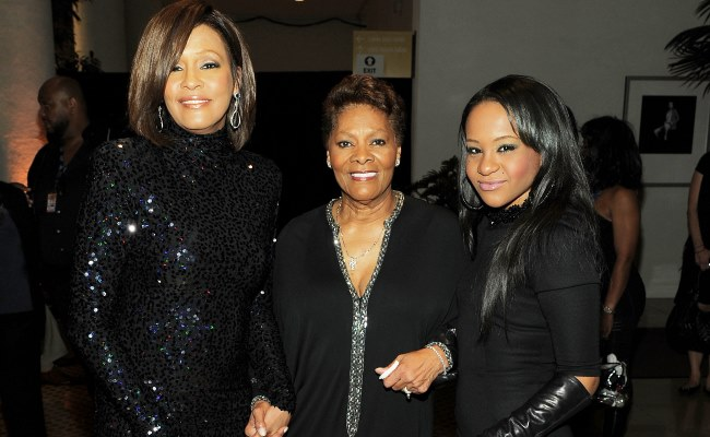 With Mother and Cousin Dionne Warwick in 2011