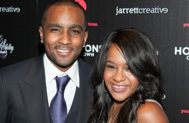 NEW YORK, NY - OCTOBER 22: Bobbi Kristina Brown and Nick Gordon attend 'The Houstons: On Our Own' Series Premiere Party at Tribeca Grand Hotel on October 22, 2012 in New York City. (Photo by Dave Kotinsky/Getty Images)