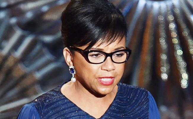 Cheryl Boone Isaacs, onstage during the 87th Annual Academy Awards at Dolby Theatre on February 22, 2015 in Hollywood, California. (Getty Images)