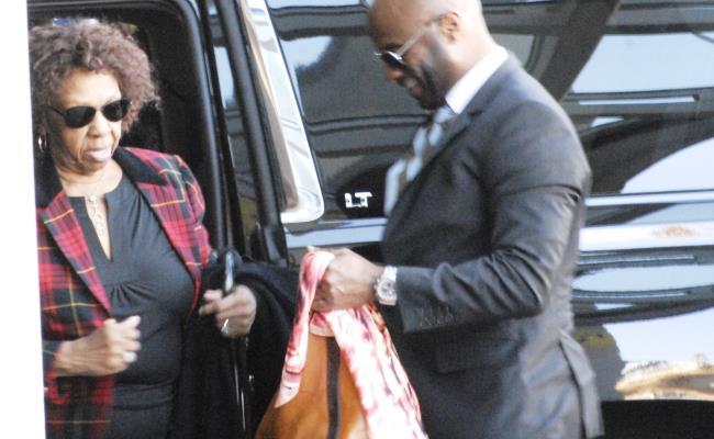 Cissy Houston arrives to visit Bobbi Kristina Brown at the Emory University Hospital on February 7, 2015 in Atlanta, Georgia.  (John E. Davidson/Getty Images)