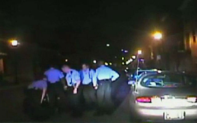 A man recently filed a lawsuit against St. Louis police after a dashcam was turned off during his violent arrest. (KSDK-TV Screenshot)