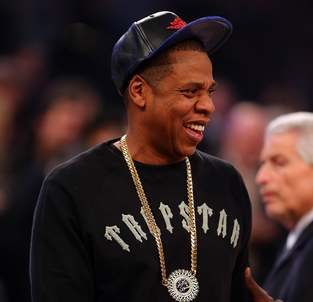 Jay-Z attends the 2015 NBA All-Star Game at Madison Square Garden on February 15, 2015 in New York City. (Elsa/Getty Images)