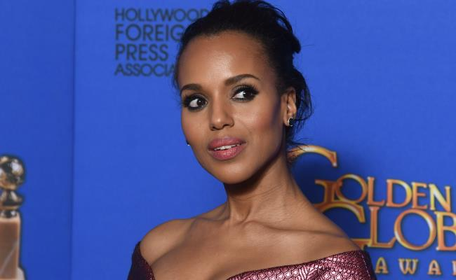 Kerry Washington poses in the press room at the 72nd Annual Golden Globe Awards, January 11, 2015 at the Beverly Hilton Hotel in Beverly Hills, California. (FREDERIC J. BROWN/AFP/Getty Images)