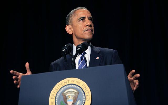 President Barack Obama speaks during the National Prayer Breakfast February 5, 2015 in Washington, DC.  (Dennis Brack-Pool/Getty Images)