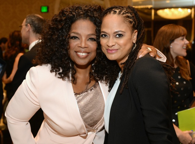 BEVERLY HILLS, CA - JANUARY 09: Actress Oprah Winfrey (L) and director Ava DuVernay attend the 15th Annual AFI Awards Luncheon at Four Seasons Hotel Los Angeles at Beverly Hills on January 9, 2015 in Beverly Hills, California. (Photo by Michael Kovac/Getty Images for AFI)