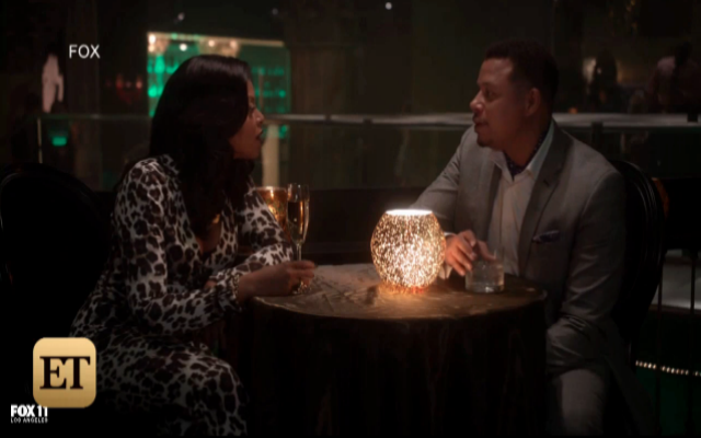 """Taraji Henson, who stars as Cookie on Fox's hit series """"Empire"""" says this this is Azzedine Alaia cat suit is her favorite outfit for the fiesty character. (ET Online Screenshot)"""