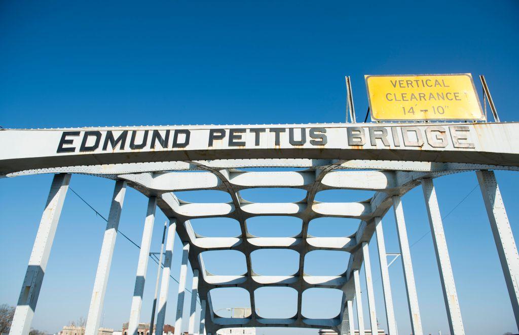 Edmund Pettus Bridge over the Alabama River in Selma, Ala