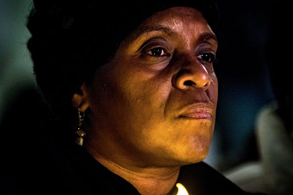 Sean Bell's mother Valerie Bell participates in candlelight vigil in Washington