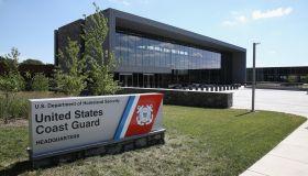 Janet Napolitano Tours New U.S. Coast Guard HQ In Washington