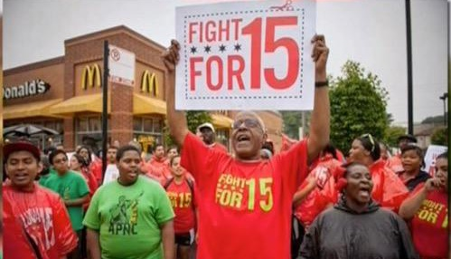 #BlackWorkMatters: Workers Across America Protest To Raise Minimum Wage To $15