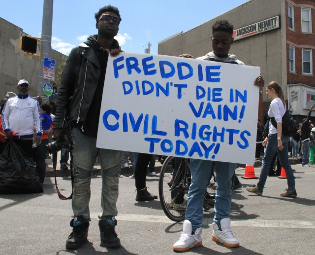 Protests in Baltimore over Freddie Gray
