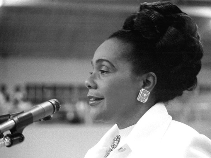"Bernice King On Her Mother: ""My mother refused to be intimidated by the many threats, acts of violence, having her home bombed on two occasions, or even the assassination of her husband. Never did she waver from her and my father's shared determination that America must honor its sacred promise of equality and justice for citizens of every race."""