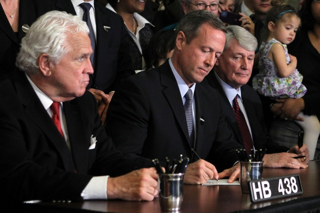 Maryland Governor O'Malley Signs Same-Sex Marriage Bill Into Law