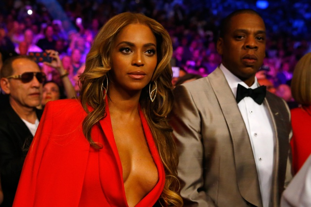 Beyonce and Jay Z at Mayweather, Pac Fight