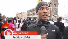 Joseph kent newsone interview Baltimore coverage
