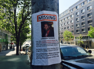 Landon Thomas Missing Persons Flier
