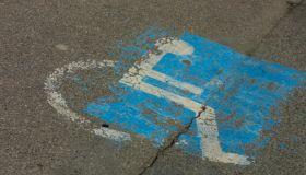 Handicapped Parking Spot Stock Image