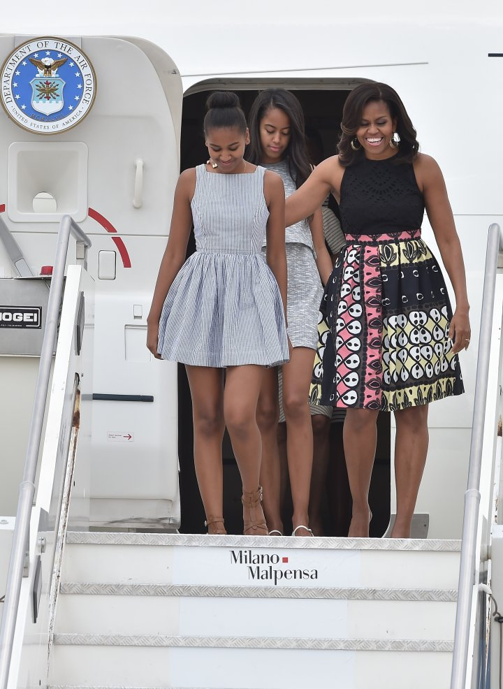 The Obamas on Air Force One
