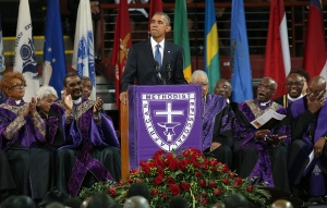 Barack Obama at Clementa Pinckney's funeral