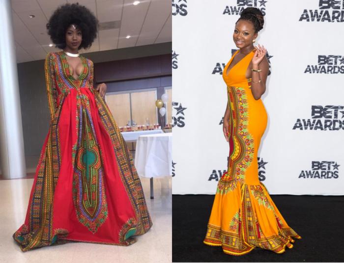Viral Star Creates Hollywood Event Dress (Kyemah McEntyre, Naturi Houghton)