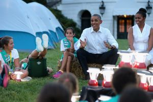 President, First Lady Host Girls Scouts At First-Ever White House Campout : News Photo View similar imagesMore from this photographerDownload comp President, First Lady Host Girls Scouts At First-Ever White House Campout