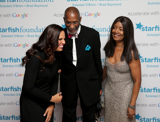 Soledad O'Brien, musician Ron Carter and QuintElle attend Soledad O'Brien & Brad Raymond Starfish Foundation Hosts Fifth Annual New Orleans To New York City Gala at Espace on July 16, 2015 in New York City.