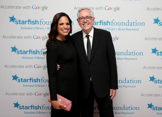 Soledad O'Brien (L) and Starfish Board Member Keith Reinhard attend Soledad O'Brien & Brad Raymond Starfish Foundation Hosts Fifth Annual New Orleans To New York City Gala at Espace on July 16, 2015 in New York City.