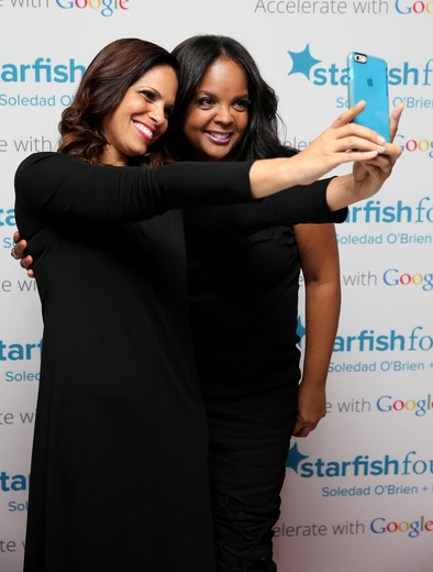 Soledad O'Brien (L) and Starfish Board Member Kim Bondy attend Soledad O'Brien & Brad Raymond Starfish Foundation Hosts Fifth Annual New Orleans To New York City Gala at Espace on July 16, 2015 in New York City.