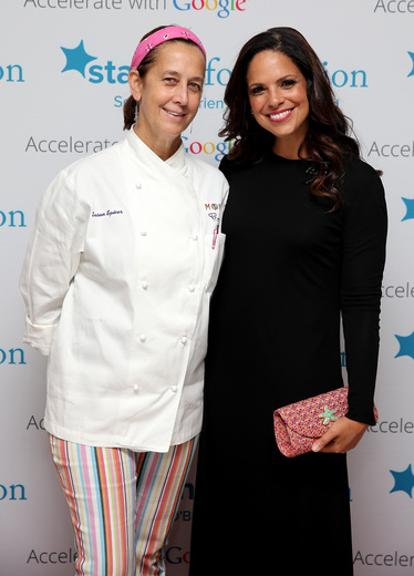 Chef Susan Spicer (L) and Soledad O'Brien attend Soledad O'Brien & Brad Raymond Starfish Foundation Hosts Fifth Annual New Orleans To New York City Gala at Espace on July 16, 2015 in New York City.