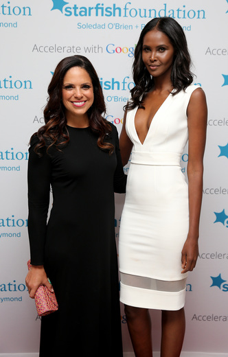 Soledad O'Brien (L) and model Ubah Hassan attend Soledad O'Brien & Brad Raymond Starfish Foundation Hosts Fifth Annual New Orleans To New York City Gala at Espace on July 16, 2015 in New York City.