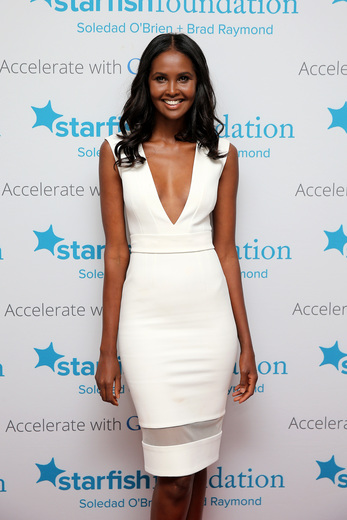 Model Ubah Hassan attends Soledad O'Brien & Brad Raymond Starfish Foundation Hosts Fifth Annual New Orleans To New York City Gala at Espace on July 16, 2015 in New York City.
