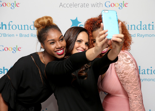 Starfish Foundation Scholars pose with Soledad O'Brien (C) at Soledad O'Brien & Brad Raymond Starfish Foundation Hosts Fifth Annual New Orleans To New York City Gala at Espace on July 16, 2015 in New York City.