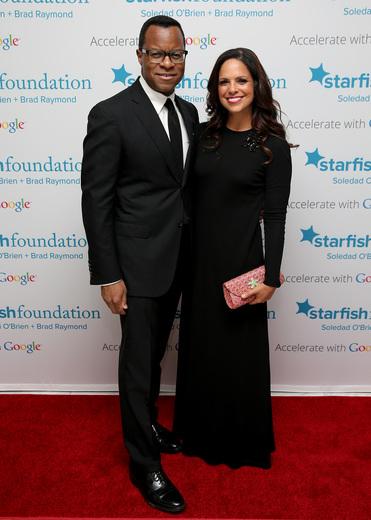 Geoffrey S. Fletcher (L) and Soledad O'Brien attend Soledad O'Brien & Brad Raymond Starfish Foundation Hosts Fifth Annual New Orleans To New York City Gala at Espace on July 16, 2015 in New York City.