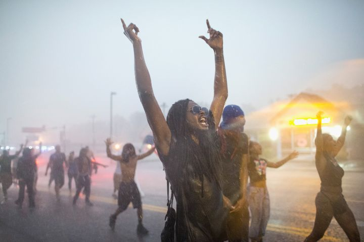 2015: A year later, protesters say they too were hit with tear gas while protesting in the streets.