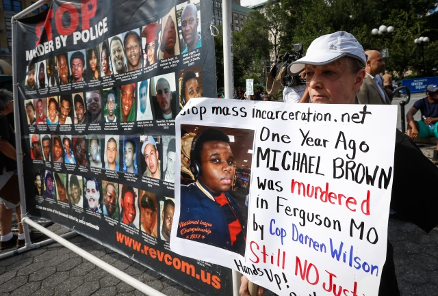 Ferguson On One Year Anniversary Of Michael Brown's Death